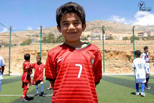 Voetbaltoernooi voor Syrische vluchtelingen in Libanon